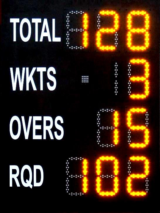 Club Standard Electonic Digital Scoreboard Cartwrights